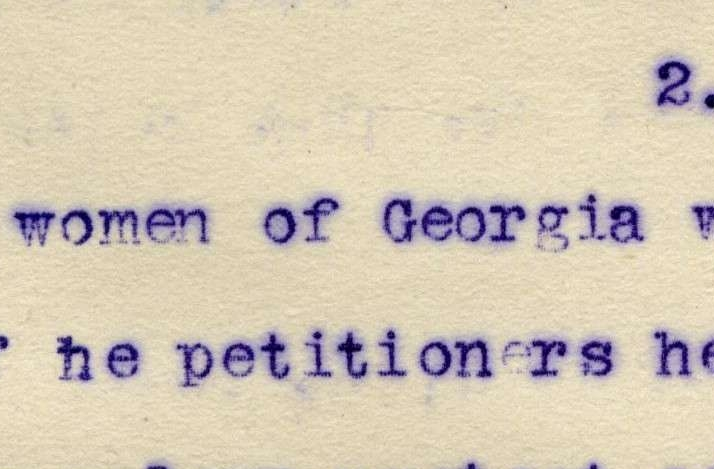 Petition from the Women of Georgia Protesting the Women
