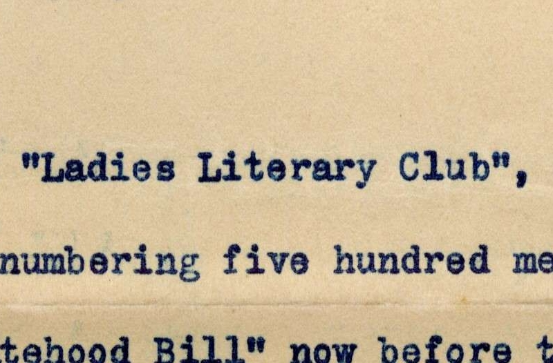 Petition of Ladies Literary Club of Grand Rapids