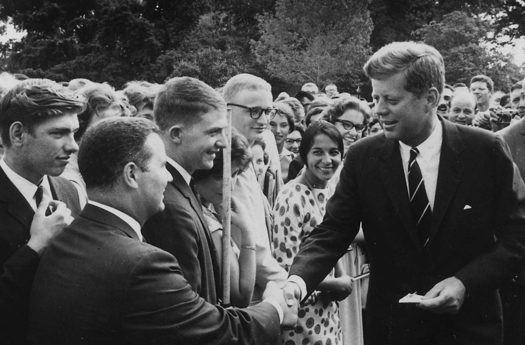 President Kennedy Greets Peace Corps Volunteers