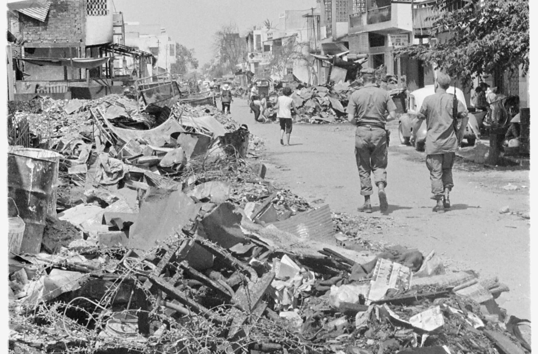 Suburb of Saigon That was Burned by the South Vietnamese Army