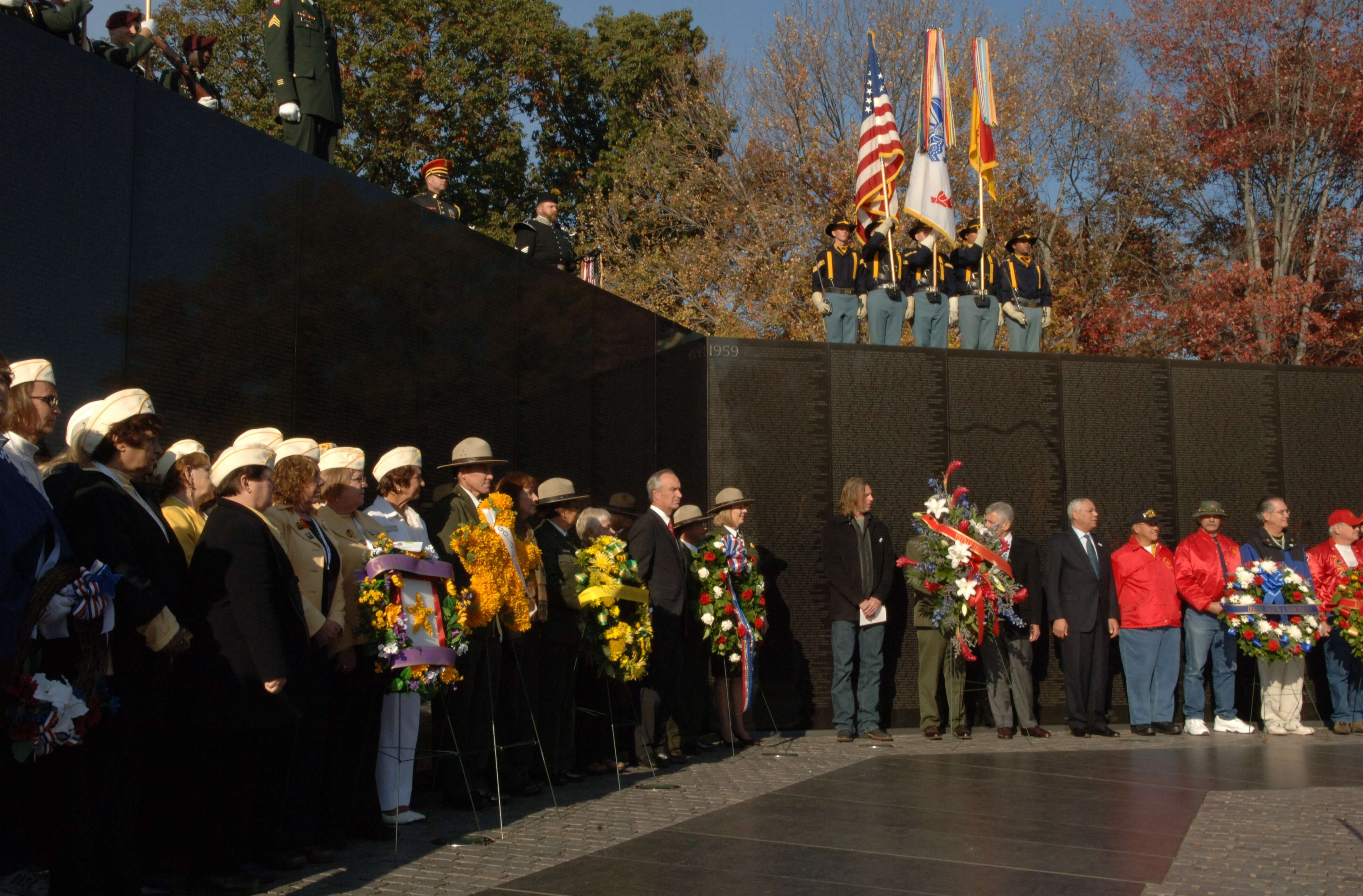 Veterans Day Ceremony at the Vietnam Veterans Memorial