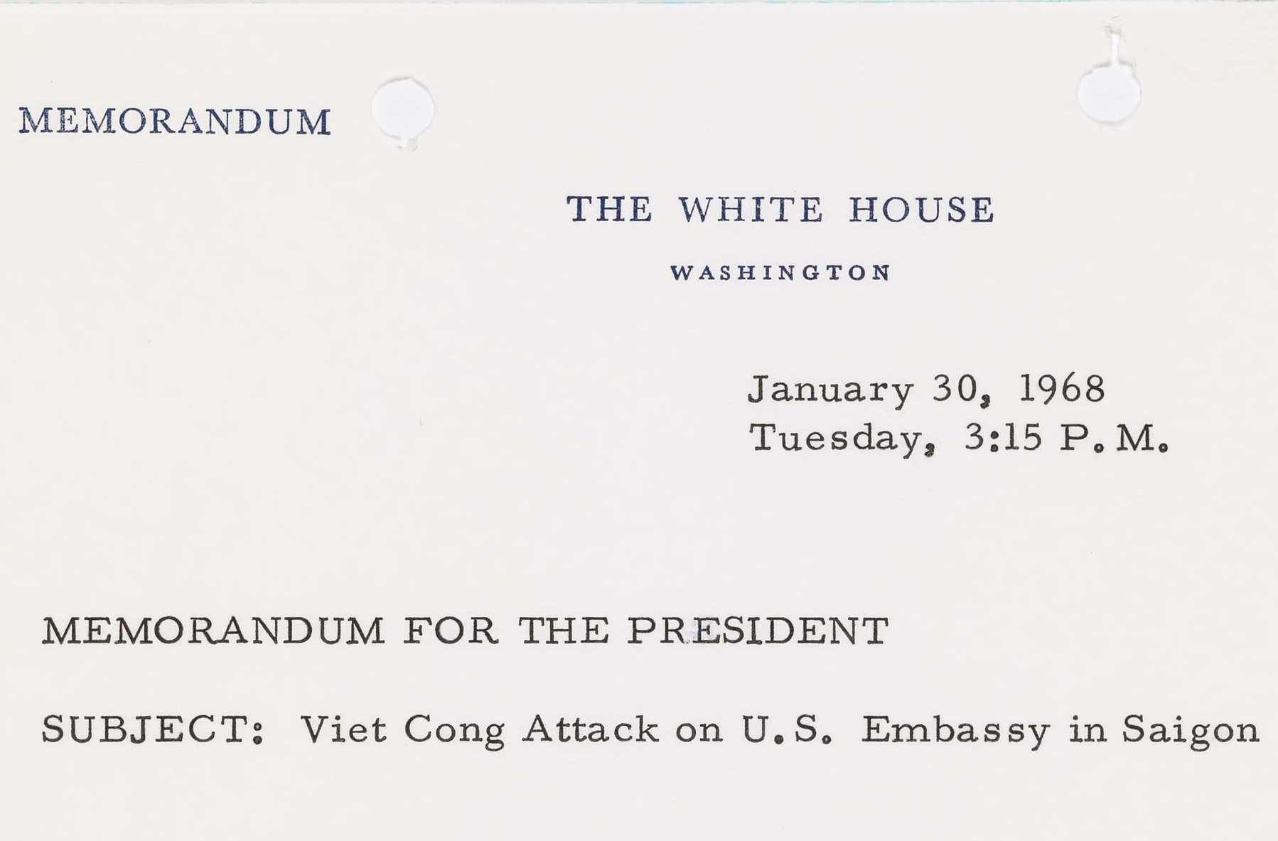 Memo from Walt W. Rostow to President Johnson