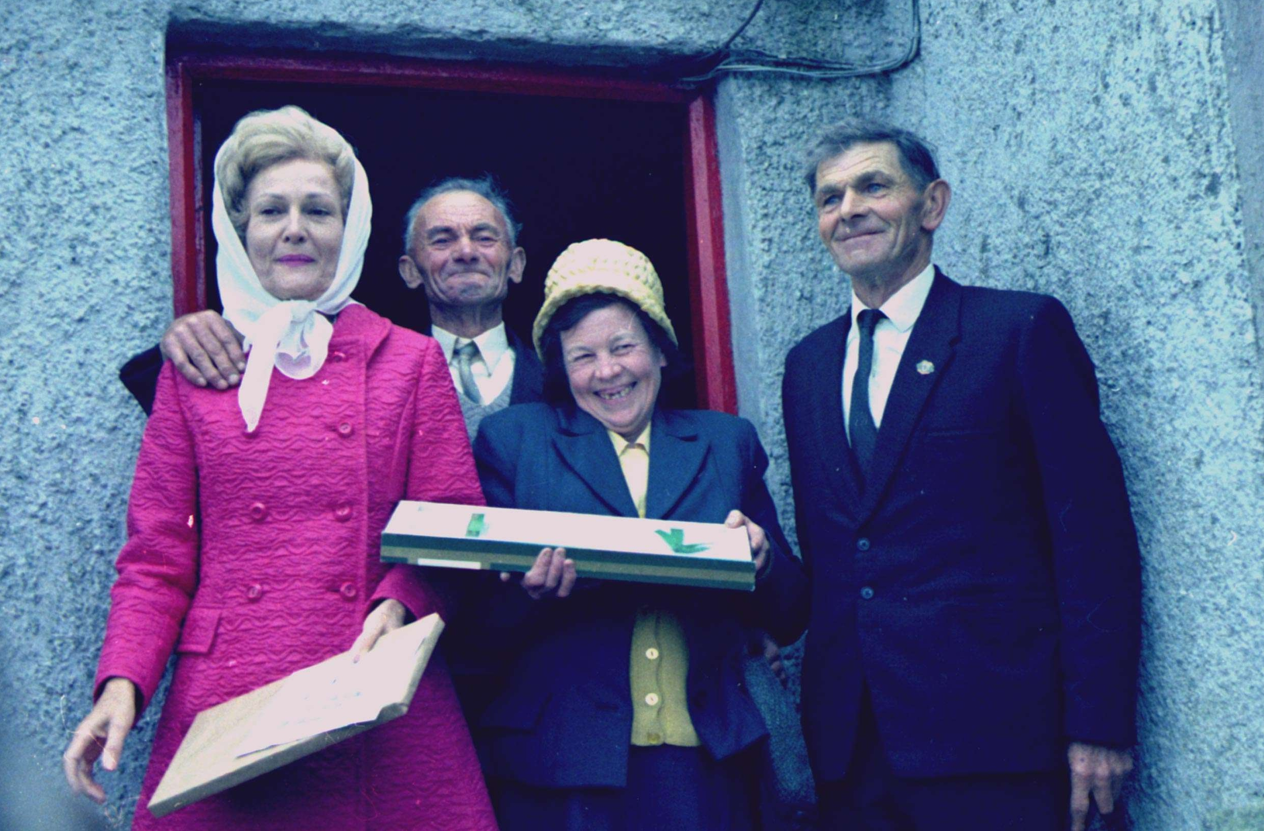 First Lady Pat Nixon with her Cousins in Ireland