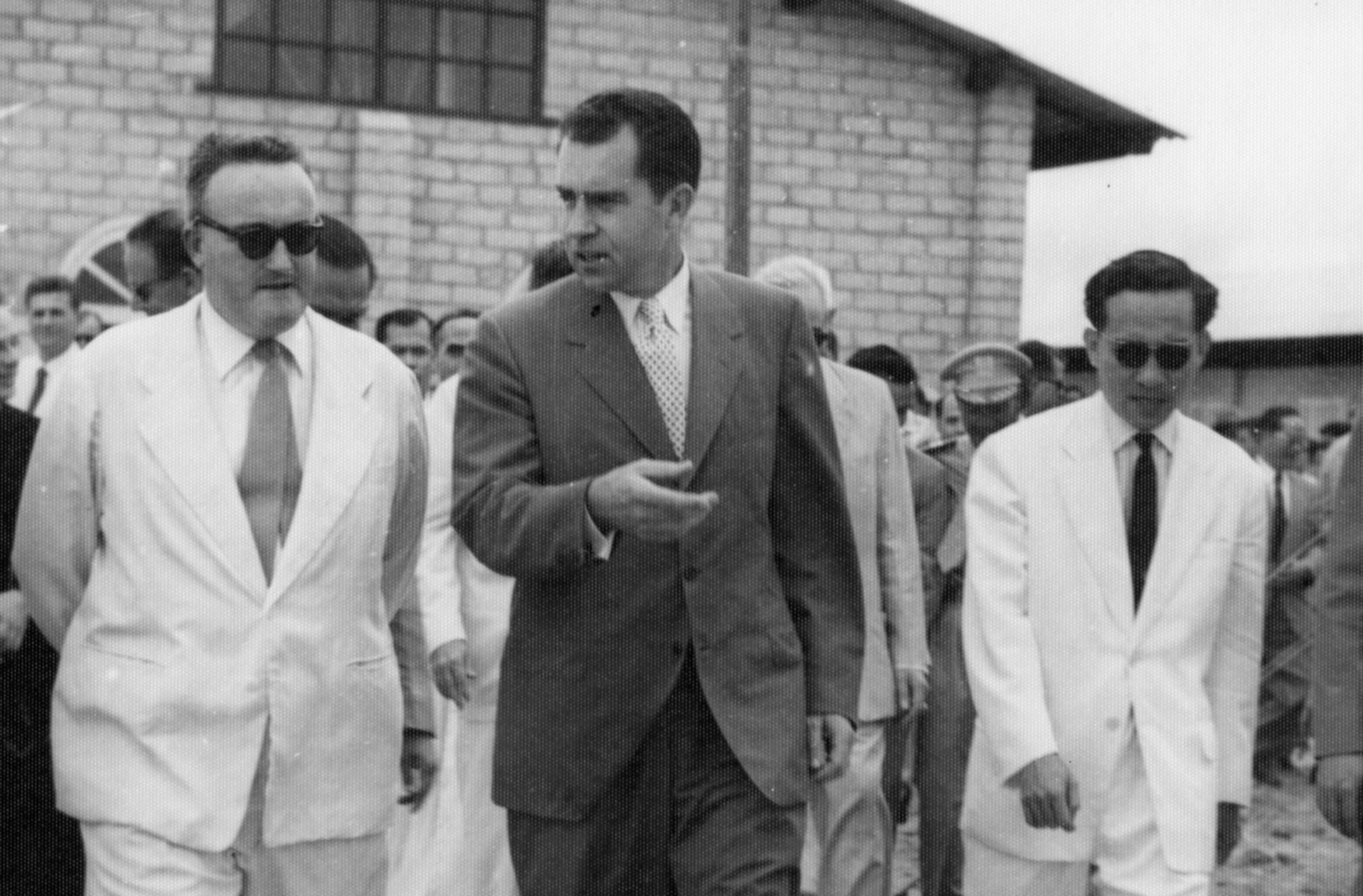 Richard Nixon Visits South Vietnam
