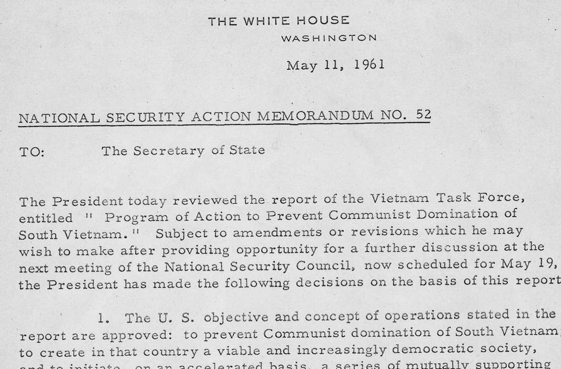 National Security Action Memorandum No. 52 Vietnam