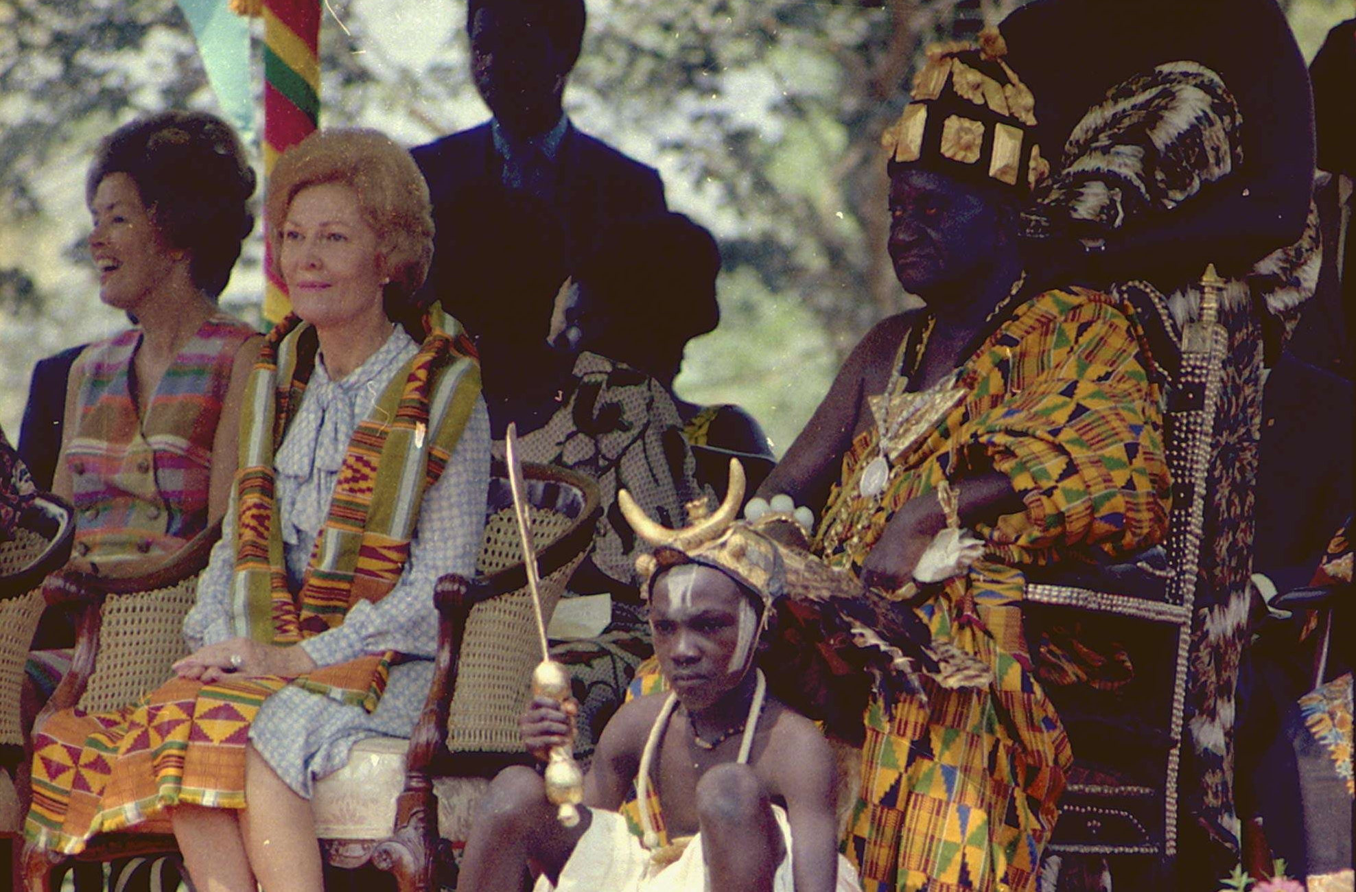 Mrs. Nixon Attending a Ceremony in Ghana