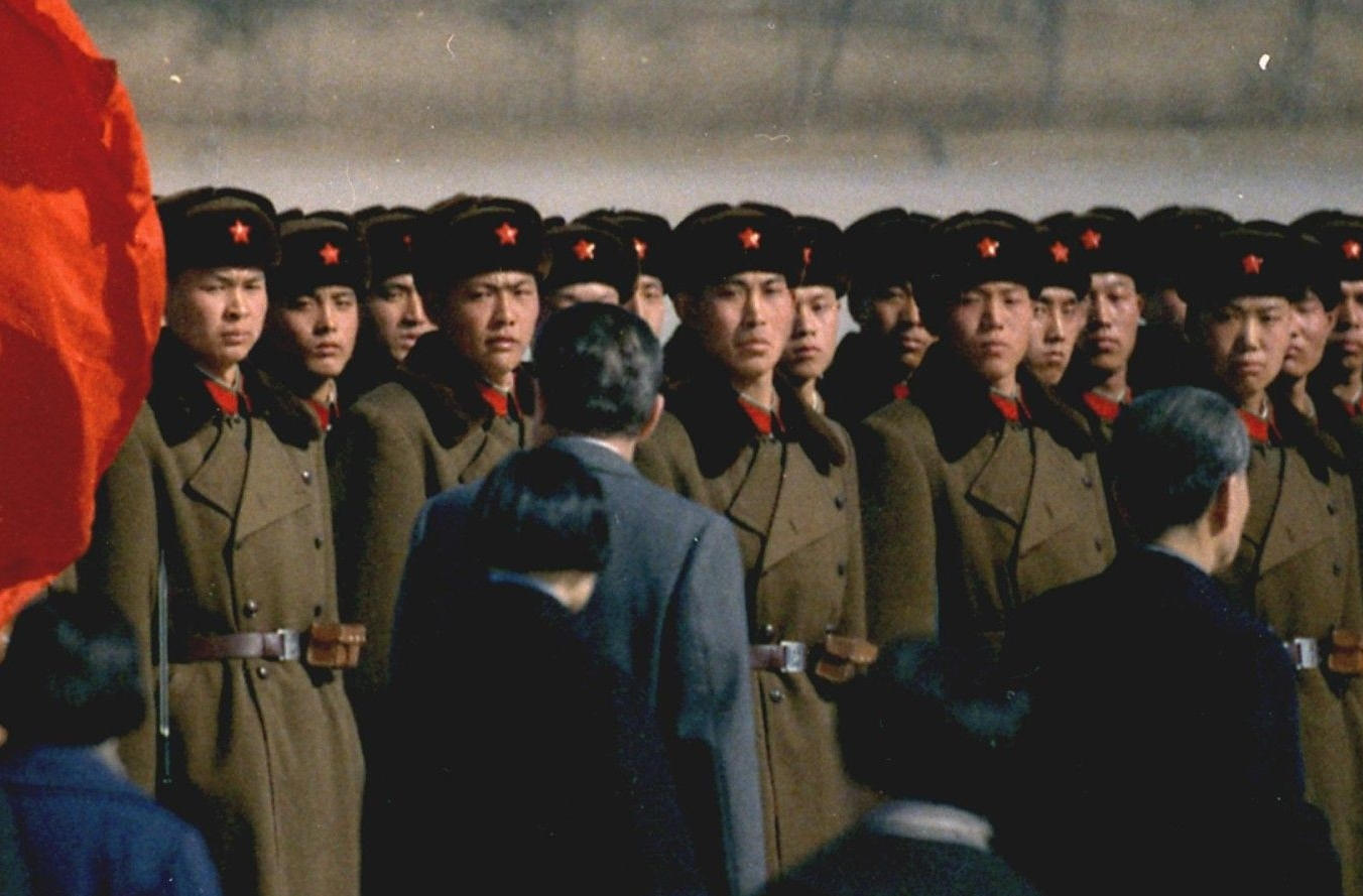 President Nixon Reviewing Chinese Troops at the Airport